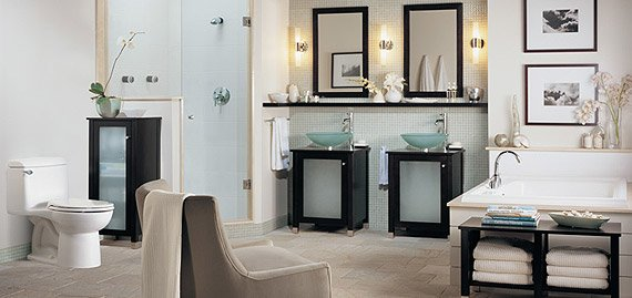 The Cardiff Collection Cool, calm and confidently modern, having this Collection in your home means living with modern art everyday. A contrast of straight edges and sensual curves, punctuated with glass surfaces that seem to float. It's your own personal spa where the rituals of the bath are anything but routine.